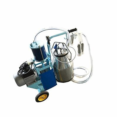New Cow Goat Piston Milking Machine With 25l 304 Stainless Bucket Farm Supplies