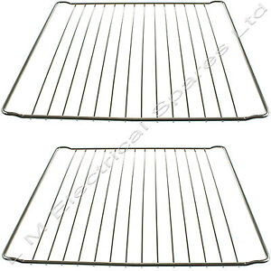 2 x UNIVERSAL Cooker Oven Shelves Wire Shelf Rack Grill Grids 365 mm x 397 mm