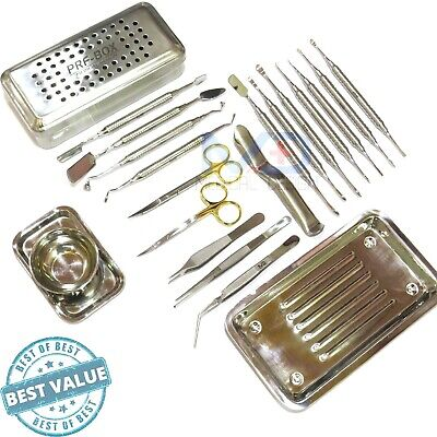 Dental Periosteal Elevator Set Prf Box Bone Surgery Implant Instruments Kit Ce.