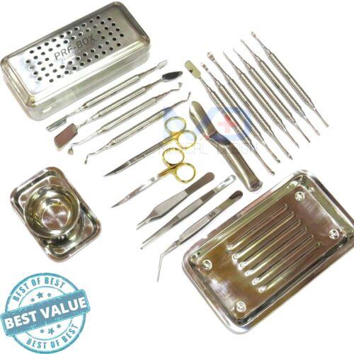 Dental Periosteal Elevator Set Prf Box Bone surgery Implant Instruments Kit CE.