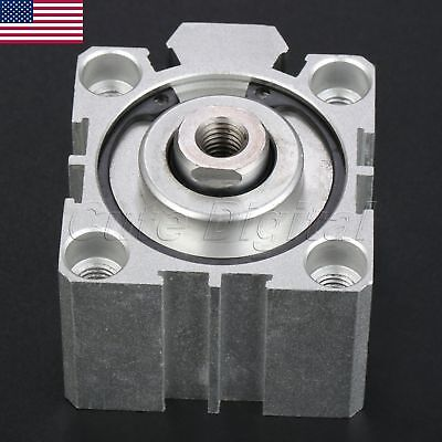 1pc Model Sda4010 Double Acting Pneumatic Air Cylinder Aluminum Alloy 40mm Bore