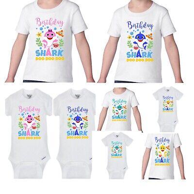 Birthday shark Girls or Boys Infant/Toddler Shirt/baby onesie