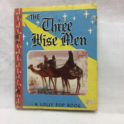 Vintage 1949 The Three wise Men Story Lolly Pop Book Little Samuel