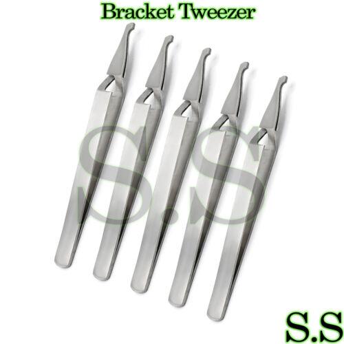 Self Closing Tweezer Reverse Action Orthodontic Bracket Holding Forceps Set Of 5