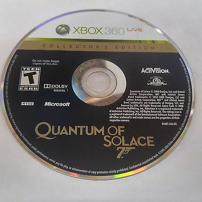 James Bond 007: Quantum of Solace Collector's Edition (Xbox 360) DISC ONLY #915