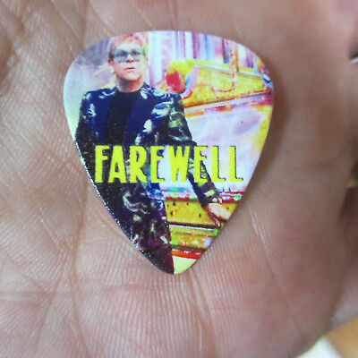 ELTON JOHN Collectors Guitar Pick; 'Farewell' Novelty to Commemorate Final Tour