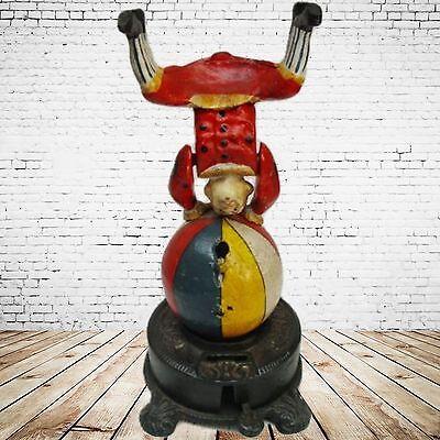 Mechanische Spardose Clown Turner Geschenk Vintage Deko Spielzeug