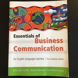 Essentials of Business Communication, 1st Canadian edition
