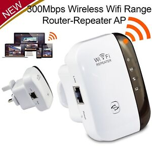 300Mbps Wireless Wifi Router Repeater Long Range Extender Booster Internet WPS