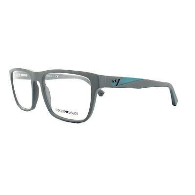 Emporio Armani Glasses Frames EA3080 5502 53MM Matte Grey Mens Optical Frame