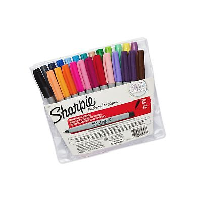 24 Pack Sharpie Ultra Fine Point Permanent Markers Set Assorted Colors Art Pen