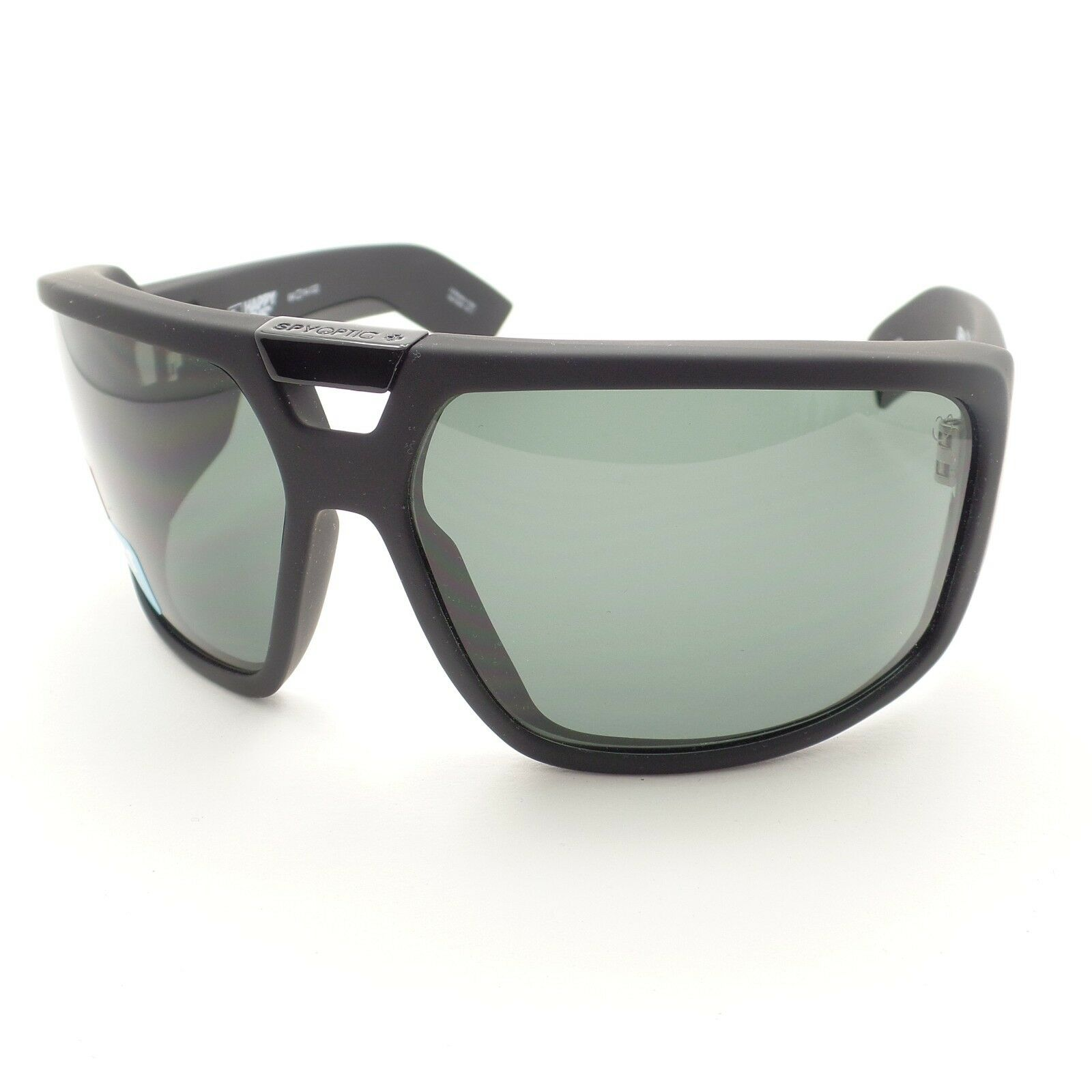 abd2141603 Spy Optics Touring Matte Black Happy Gray Green New Sunglasses Authentic