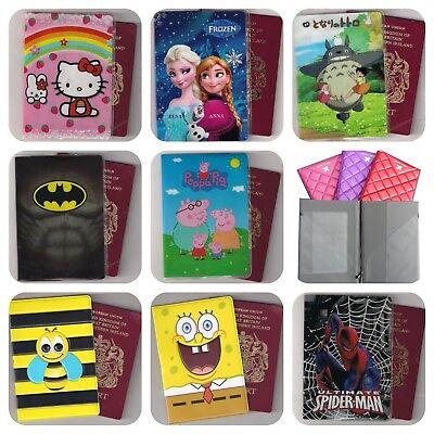 Passport Holder case cover travel gift Children Boys Girls kids TV Character  ](Kids Passports)