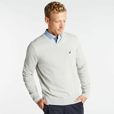 Nautica Mens V-Neck Navtech Sweater