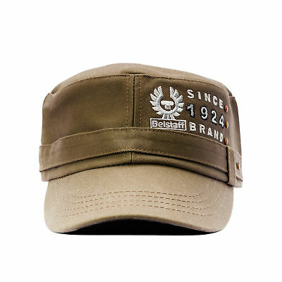 Belstaff Baseball Cap Basecap Mütze Grün Militär Bestickt Herren Damen Onesize