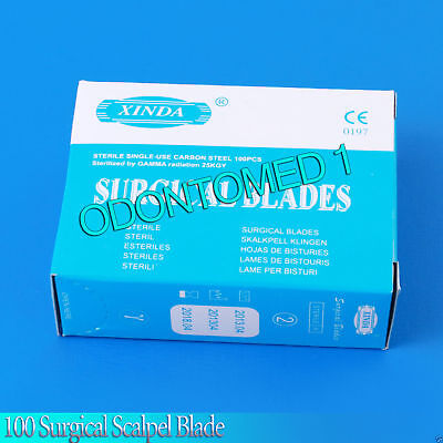 3 Boxes Of 100 Scalpel Blades 15 Surgical Dental Ent Instruments