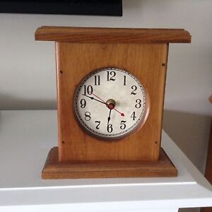 Wheaton's oak mantel clock