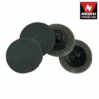 Neiko 11179a - 25 Piece 2 120 Grit Quick Change Silicon Carbide Sanding Discs