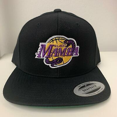 Kobe Bryant Black Mamba 3D Puff Yupoong Snapback Hat