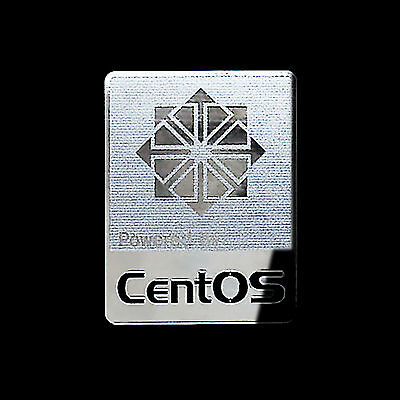 Powered by CentOS Linux Metal Decal Sticker Case Computer PC Laptop Badge