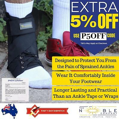 Ankle Support Brace Stabilizer Removable Stays ASO Ankle Sprain Guard Sports