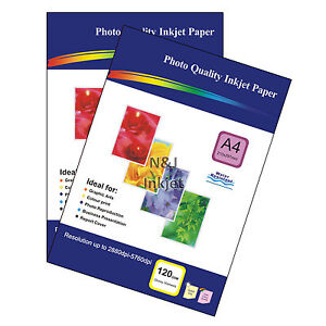 100 Sheets of A4 / 4x6 High Quality Glossy Photo Paper for Inkjet Printers