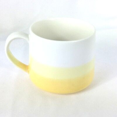 2014 Starbucks Yellow-White Ombre Stackable Ceramic Mug 10 oz EUC
