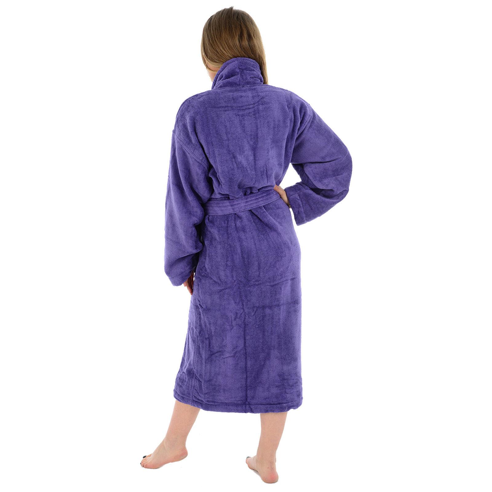 Unisex Egyptiaon Cotton Terry Towelling Bathrobe Luxury Dressing Gown Towel Soft
