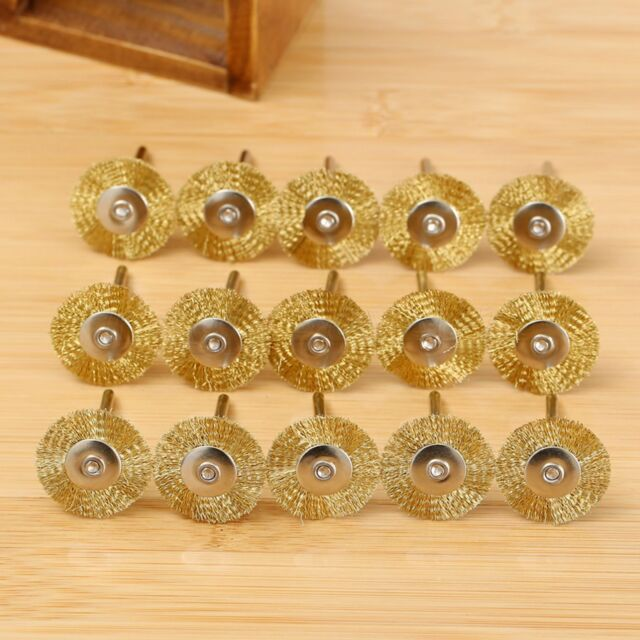 15Pcs 25mm Brass Wire Wheel Brush Cup for Weld Die Power Grinder Rotary Drill