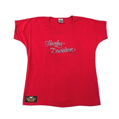 Vintage 1989 Harley Davidson 3D Emblem Shirt Single Stitch Womens Size Large USA