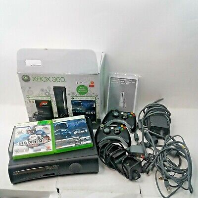 Xbox 360 Elite System120 GB w/2 Controllers, Power Supply, Cables & Instructions for sale  Shipping to India