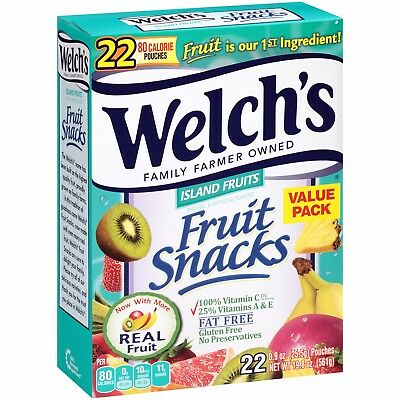 NEW SEALED WELCH'S ISLAND FRUIT SNACKS 19.8 OZ MADE WITH REAL FRUIT 22 - Welchs Fruit Snacks