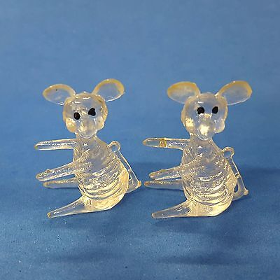 MICE acrylic lucite Crystal Pet figures gumball prize charm not-cracker-jack