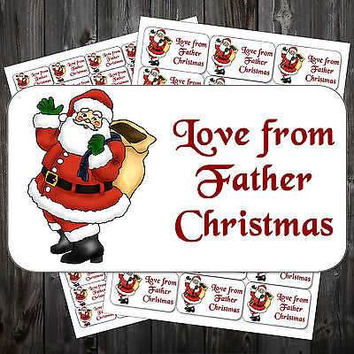 21 Christmas Gift Sticky Labels Stickers Tags Love From Father Christmas #acm ()