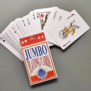 Deluxe Gaming Set Jumbo Playing Cards Deck Plastic Coated Card Games All Ages