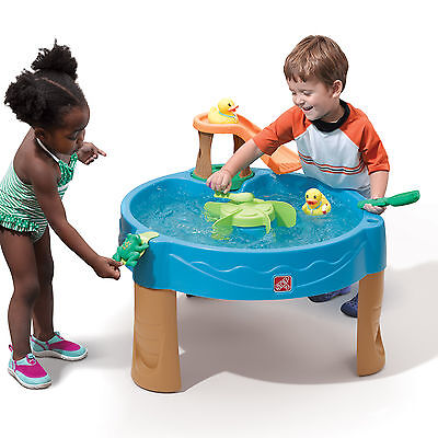 Step2 Duck Pond Water Table Toddler Splash Play Frog Scooper Kids Learning Toys