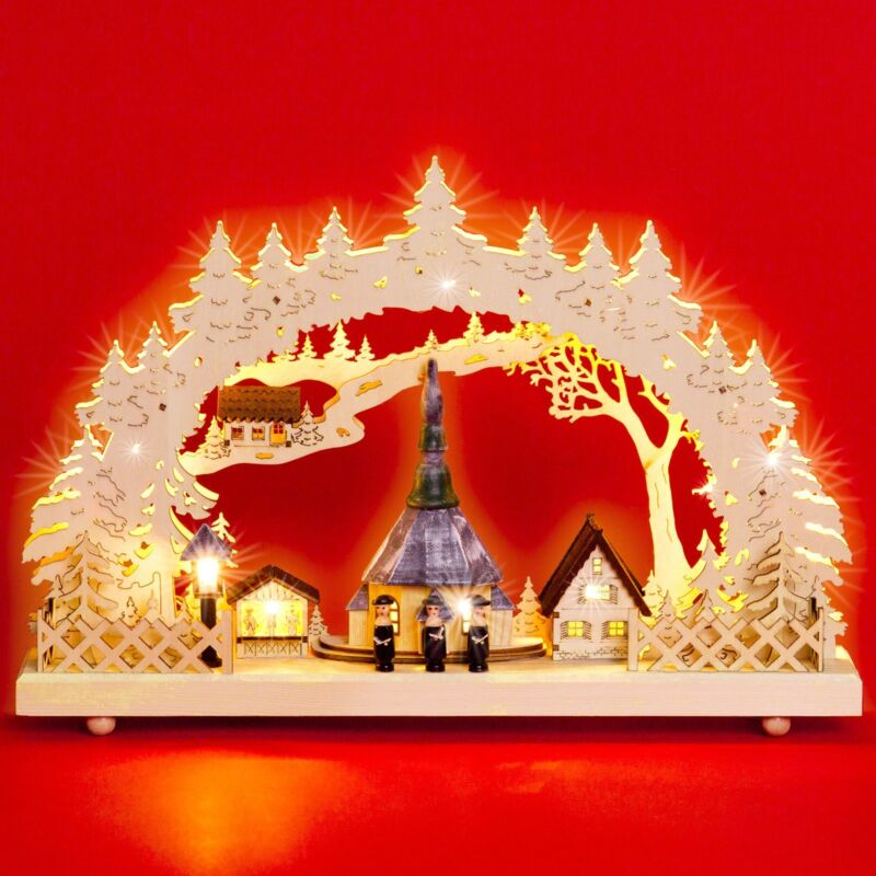 SIKORA LB60 Wooden Christmas Arch Decoration LED Illumination - Christmas Market