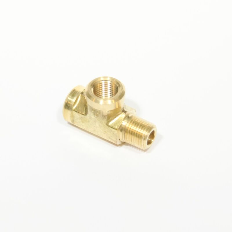 """1/8"""" NPT Male Female Street Tee Forged Brass Fitting, Fuel, Air, Oil, FasParts"""