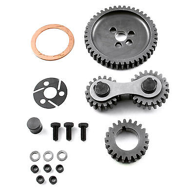 (Scorpion Small Block Chevy Timing Gear Drive Dual Idler SBC 327,350,383,400,406)