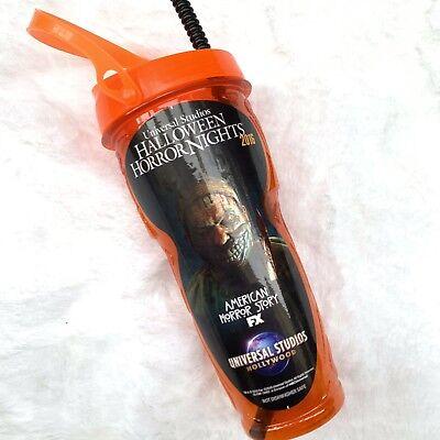 HALLOWEEN HORROR NIGHTS AMERICAN HORROR STORY Sipper Cup Universal Studios 2016 - Universal Halloween Horror Nights History