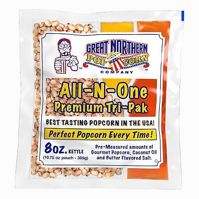 4109 Great Northern Popcorn Premium 8 Ounce Popcorn Portion Packs, Case of 12