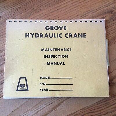 Grove Maintenance Inspection Manual Hydraulic Crane Service Report Guide Log
