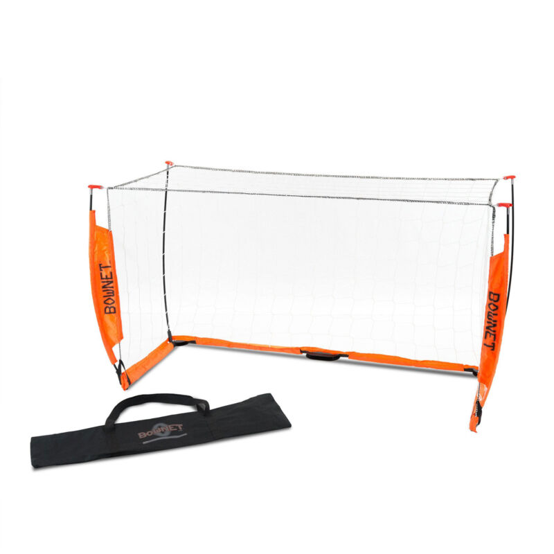 Bownet 3 Foot x 5 Foot Portable Youth Training Practice Soccer Goal, Orange
