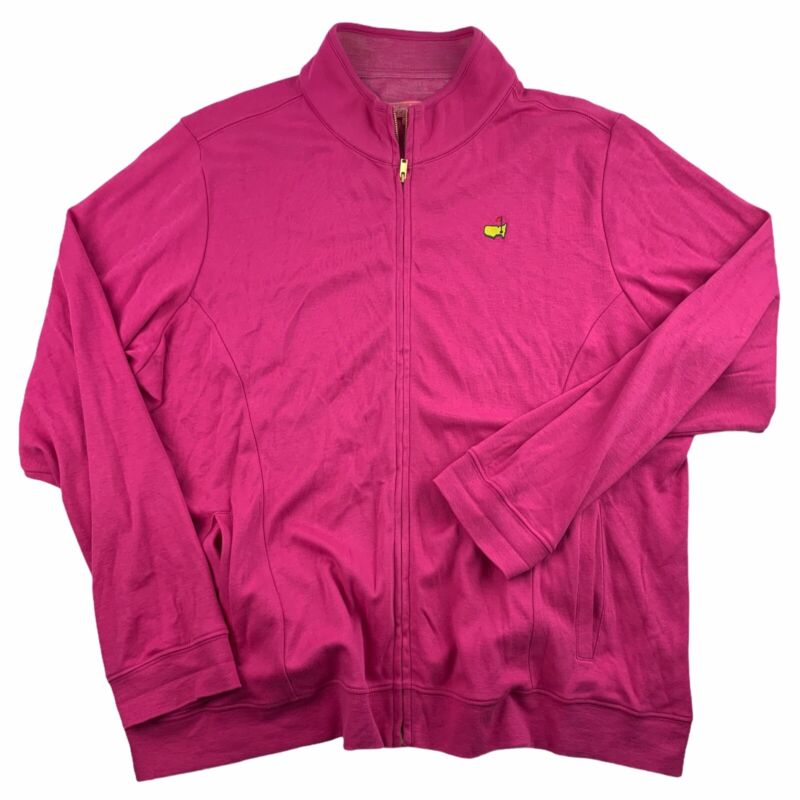 Masters Womens 1X Magnolia Lane Full Zip L/S Jacket Pink Augusta National XL EUC