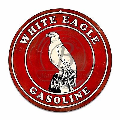 Vintage Design Sign Metal Decor Gas and Oil Sign - White Eagle...