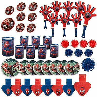 Spider Man Webbed Wonder Party Favor Pack 48ct Marvel Theme Birthday Decorations - Spider Man Decorations