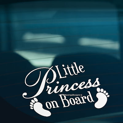 BABY FEET LITTLE PRINCESS ON BOARD Funny Car,Bumper,Window Vinyl Decal Sticker