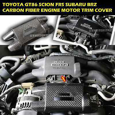 Engine Cover Dry Carbon Fiber Fits 13 14 15 Toyota 86 Scion FRS Subaru BRZ