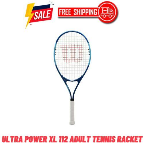 Wilson Ultra Power XL 112 Tennis Racket, Grip Size 3, Blue - FREE SHIPPING