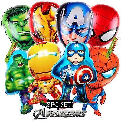 XL AVENGERS IRON MAN SPIDERMAN HULK CAPTAIN AMERICA Birthday Party BALLOON FAVOR](Birthday Iron Man)